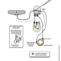 One Single Coil Pickup Wiring Diagram